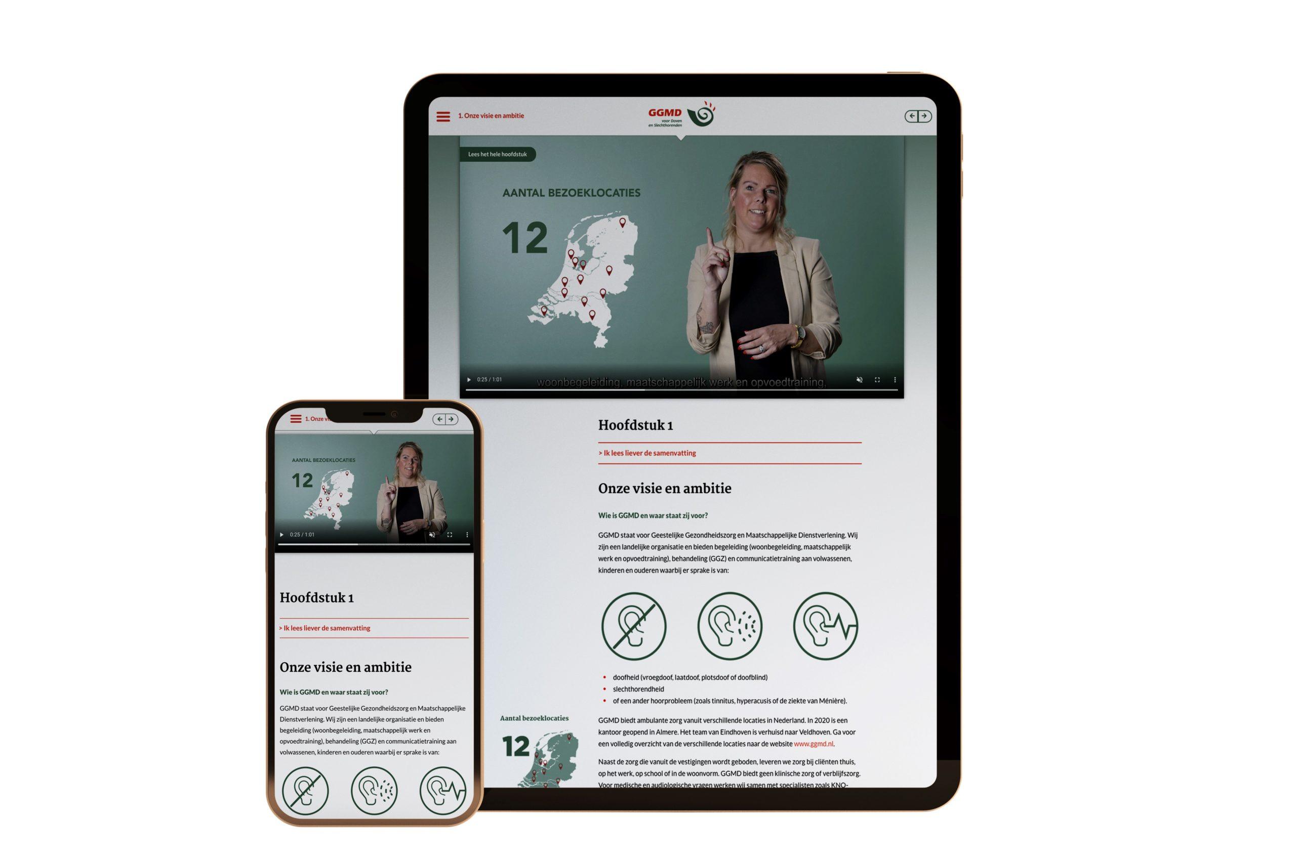 Jaarverslag 2020 GGMD smartphone en tablet